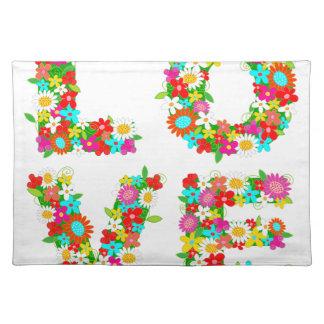 floral love placemat