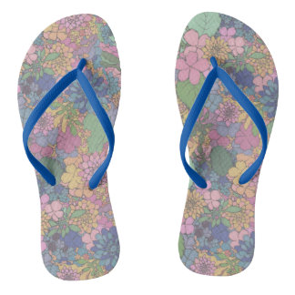 Floral Love Slippers Thongs