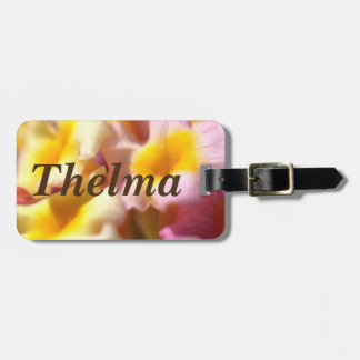 Floral luggage tag - Thelma
