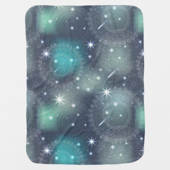 Floral luxury mandala pattern baby blanket