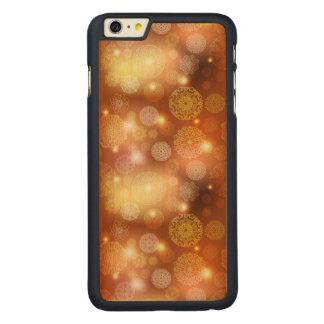 Floral luxury mandala pattern carved maple iPhone 6 plus case