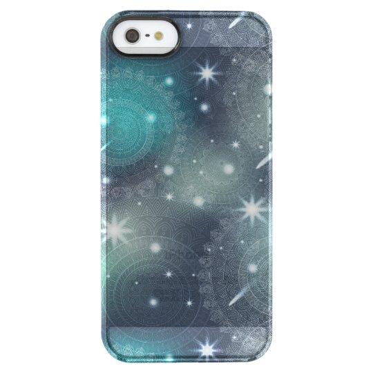 Floral luxury mandala pattern clear iPhone SE/5/5s case