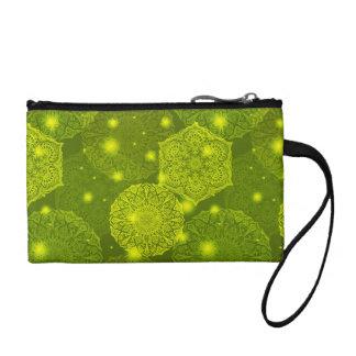 Floral luxury mandala pattern coin purse