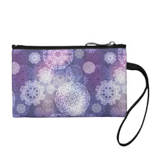 Floral luxury mandala pattern coin purse