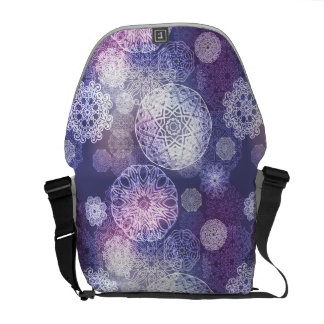 Floral luxury mandala pattern courier bag