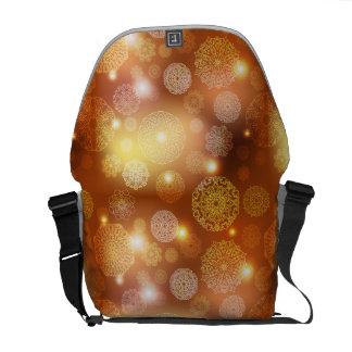 Floral luxury mandala pattern courier bag