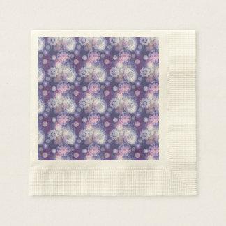 Floral luxury mandala pattern disposable napkins