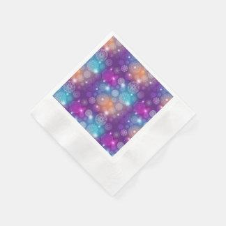 Floral luxury mandala pattern disposable serviettes