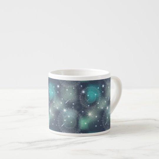 Floral luxury mandala pattern espresso cup