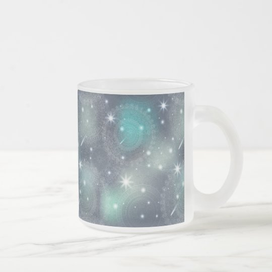 Floral luxury mandala pattern frosted glass coffee mug
