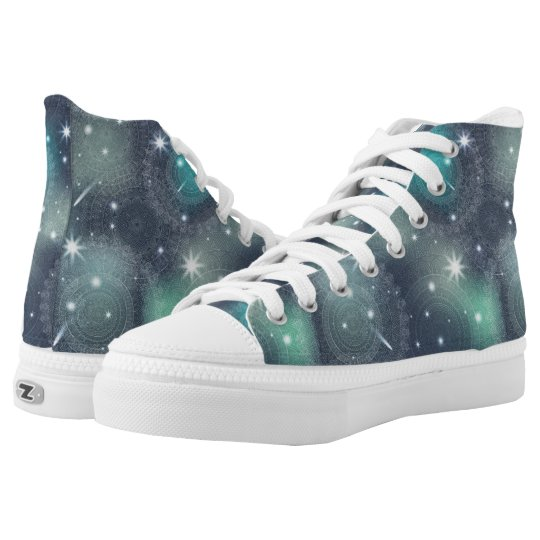 Floral luxury mandala pattern high tops