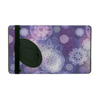 Floral luxury mandala pattern iPad folio case