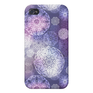 Floral luxury mandala pattern iPhone 4 cases