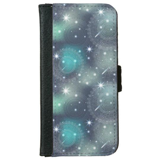 Floral luxury mandala pattern iPhone 6 wallet case