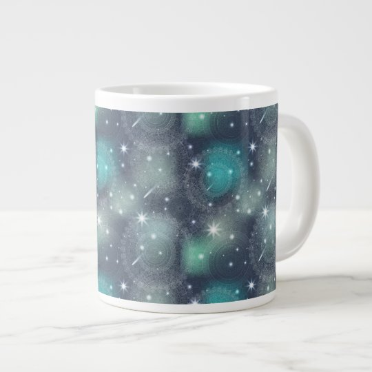 Floral luxury mandala pattern large coffee mug