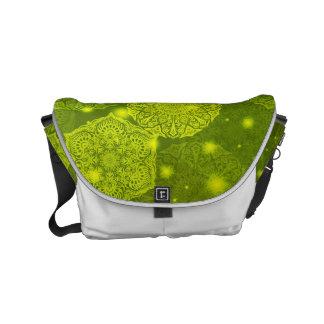 Floral luxury mandala pattern messenger bag
