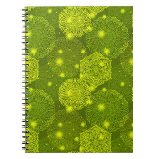 Floral luxury mandala pattern notebook