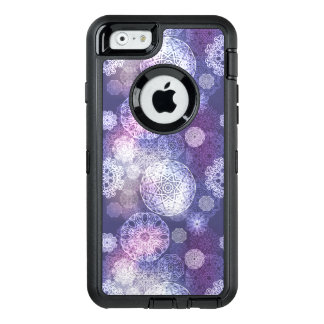 Floral luxury mandala pattern OtterBox defender iPhone case