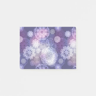 Floral luxury mandala pattern post-it notes