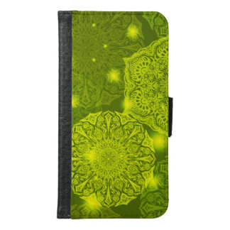 Floral luxury mandala pattern samsung galaxy s6 wallet case