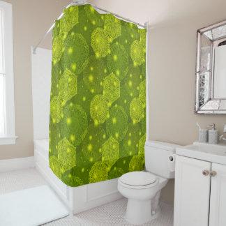 Floral luxury mandala pattern shower curtain