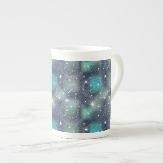 Floral luxury mandala pattern tea cup