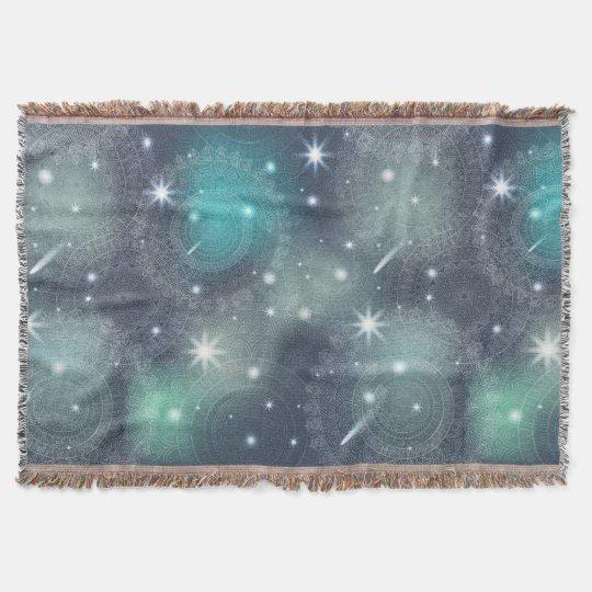 Floral luxury mandala pattern throw blanket