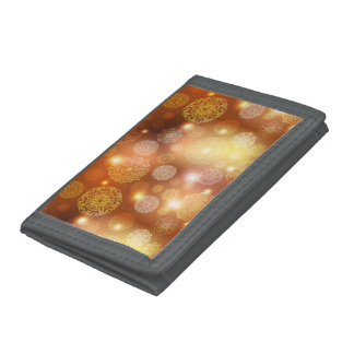 Floral luxury mandala pattern tri-fold wallets