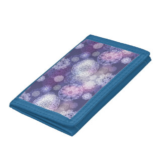 Floral luxury mandala pattern trifold wallets