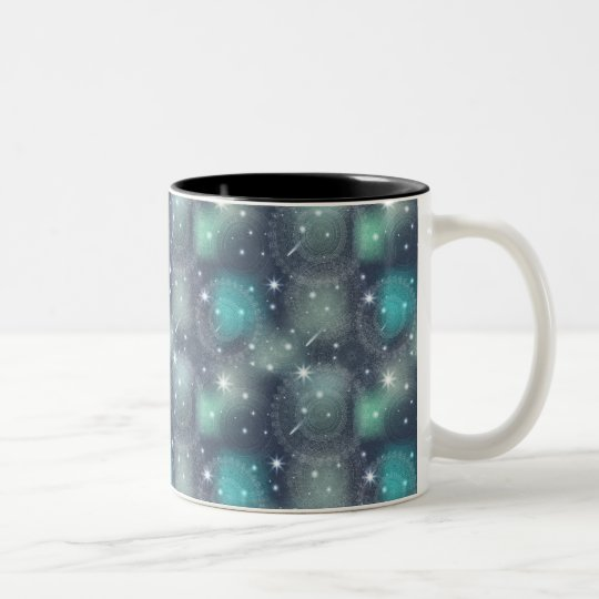 Floral luxury mandala pattern Two-Tone coffee mug