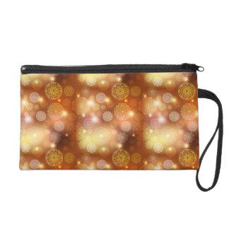 Floral luxury mandala pattern wristlet