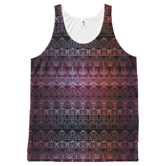 Floral luxury royal antique pattern All-Over print singlet
