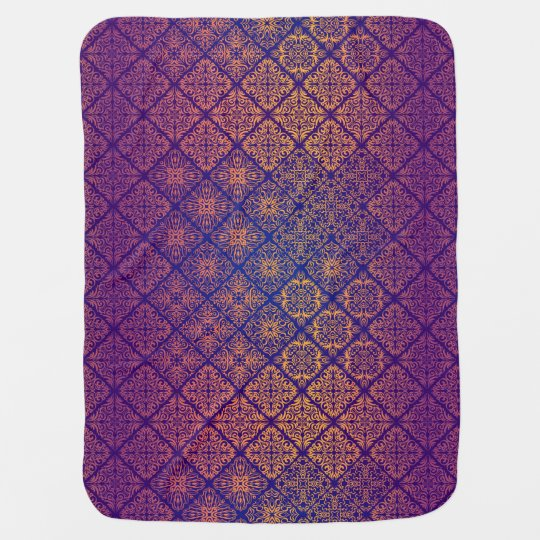 Floral luxury royal antique pattern baby blanket