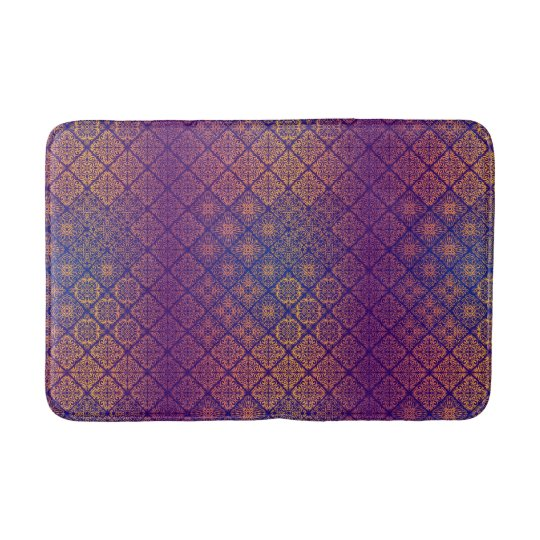 Floral luxury royal antique pattern bath mat
