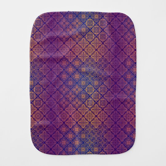 Floral luxury royal antique pattern burp cloth