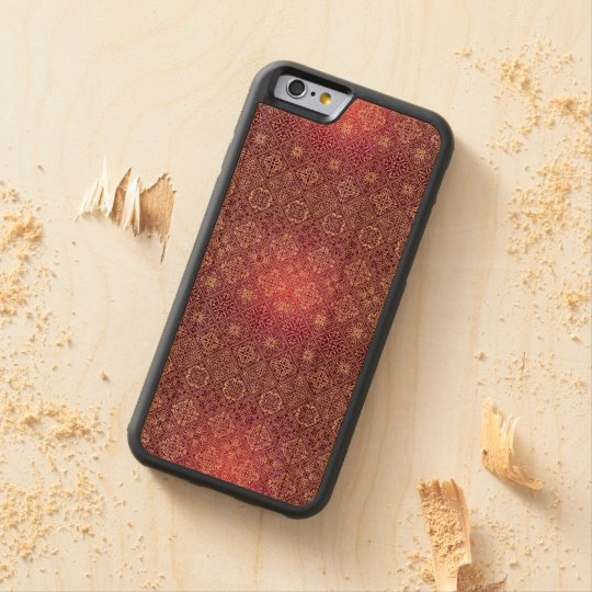 Floral luxury royal antique pattern carved cherry iPhone 6 bumper case