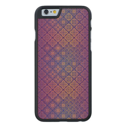 Floral luxury royal antique pattern carved maple iPhone 6 case