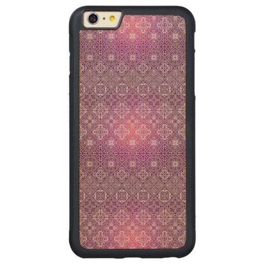 Floral luxury royal antique pattern carved maple iPhone 6 plus bumper case