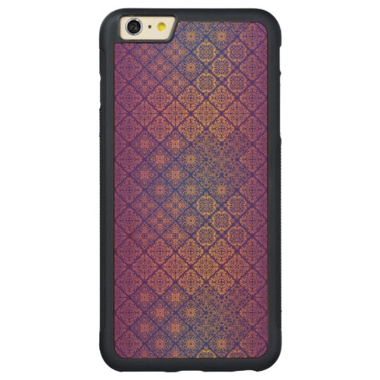 Floral luxury royal antique pattern carved maple iPhone 6 plus bumper case