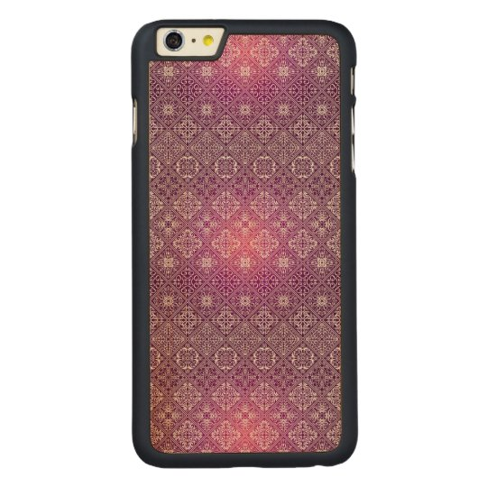 Floral luxury royal antique pattern carved maple iPhone 6 plus case