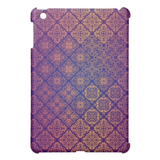 Floral luxury royal antique pattern case for the iPad mini