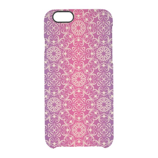 Floral luxury royal antique pattern clear iPhone 6/6S case