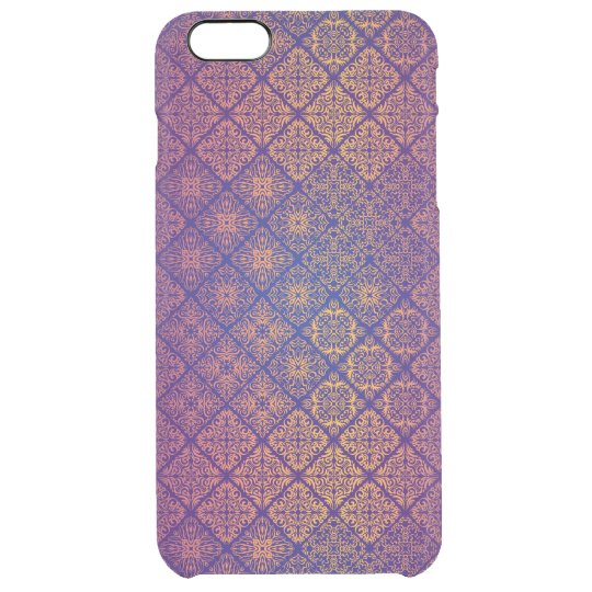 Floral luxury royal antique pattern clear iPhone 6 plus case