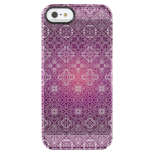 Floral luxury royal antique pattern clear iPhone SE/5/5s case