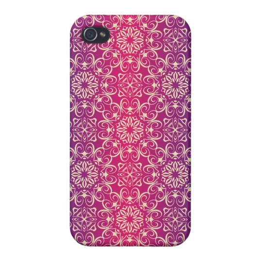 Floral luxury royal antique pattern cover for iPhone 4