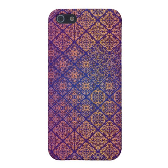 Floral luxury royal antique pattern cover for iPhone 5/5S