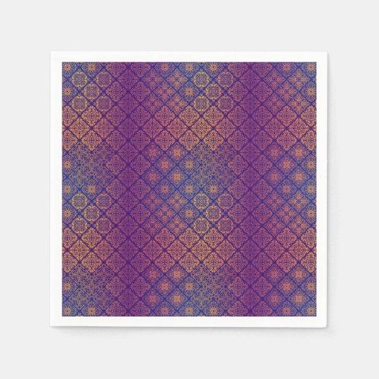 Floral luxury royal antique pattern disposable serviettes