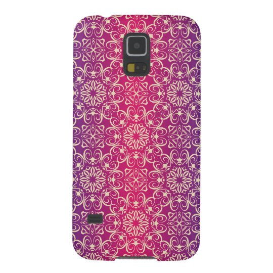 Floral luxury royal antique pattern galaxy s5 covers