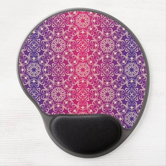 Floral luxury royal antique pattern gel mouse pad