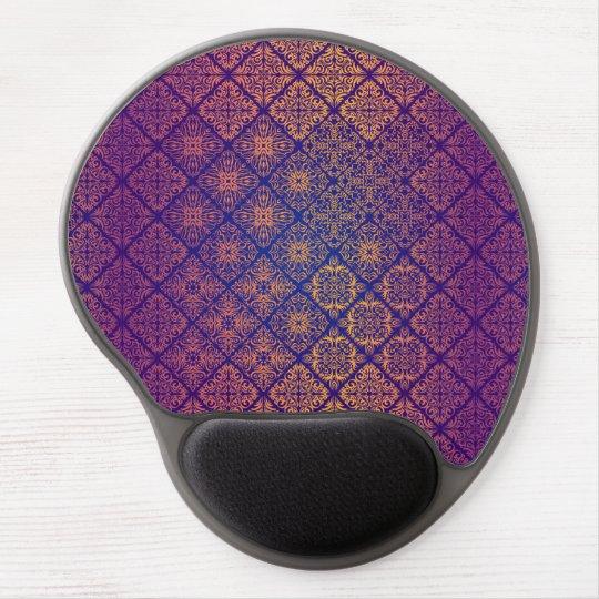 Floral luxury royal antique pattern gel mouse pad